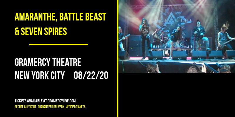 Amaranthe, Battle Beast & Seven Spires at Gramercy Theatre