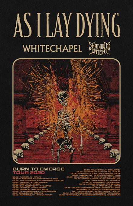 As I Lay Dying, Whitechapel & Shadow of Intent at Gramercy Theatre