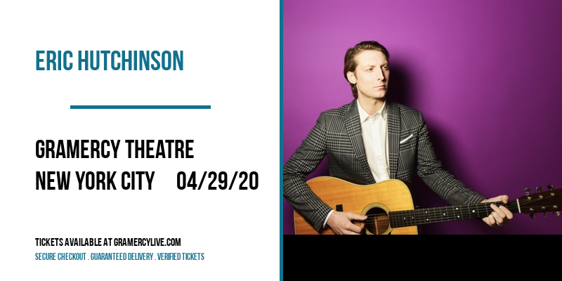 Eric Hutchinson [CANCELLED] at Gramercy Theatre