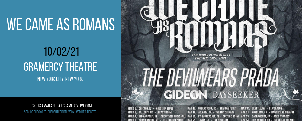 We Came As Romans at Gramercy Theatre