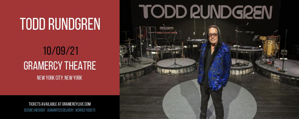 Todd Rundgren at Gramercy Theatre